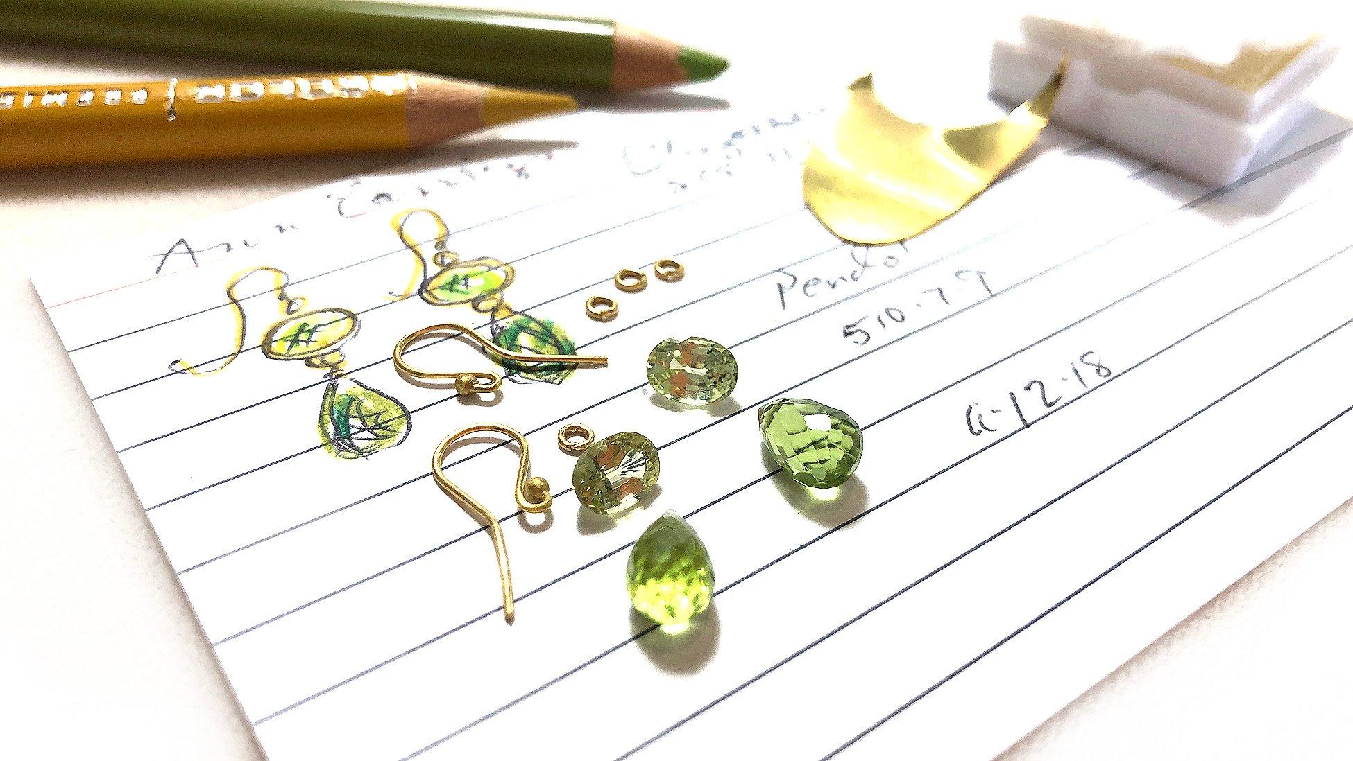August Birthstone Peridot Custom Earrings