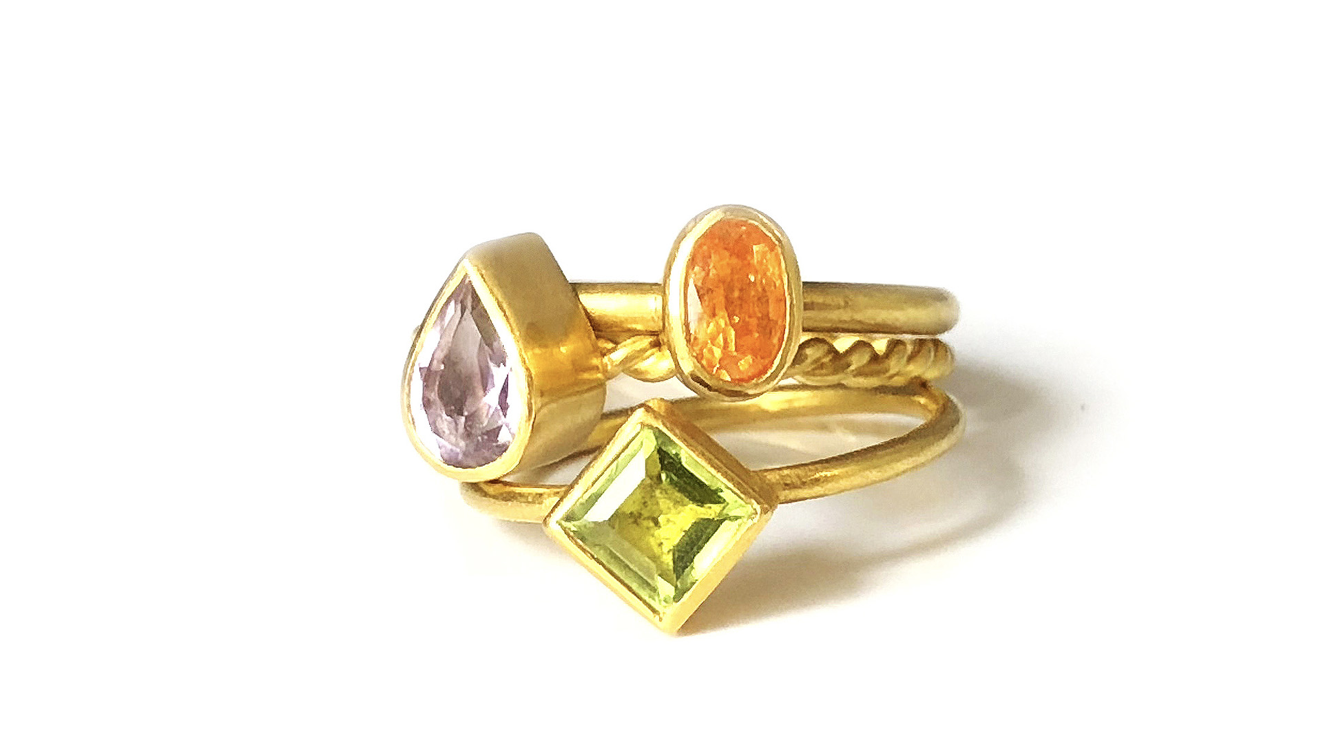 Birthstone Ring Stack Katy Beh Jewelry New Orleans 2