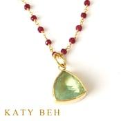 Dolly Fluorite 22k Gold Pendant Katy Beh Jewelry New Orleans 5