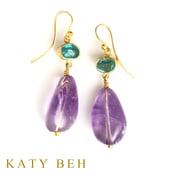 Fabi Apatite Amethyst 22k Gold Earrings Katy Beh Jewelry New Orleans