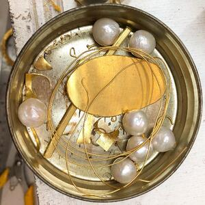 The makings of my 22k Gold and White Pearl Patricia Necklace, Katy Beh Jewelry, New Orleans