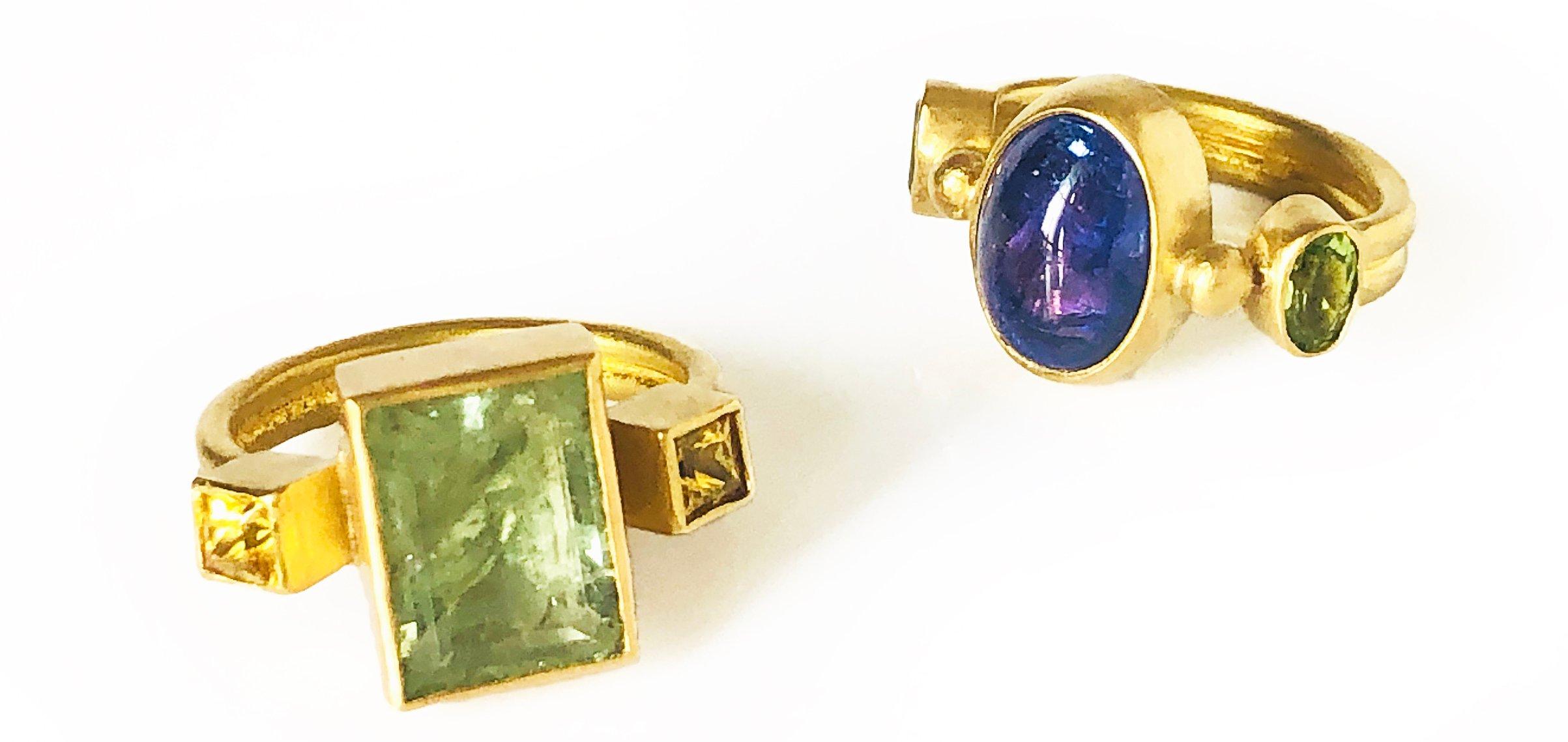 22k Rings by Katy Beh Jewelry