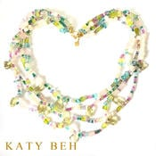 Jeannette Multi Colored Pastel Multi Strand 22k Gold Necklace Katy Beh Jewelry New Orleans 2