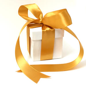 KBJ Ring Box with Ribbon