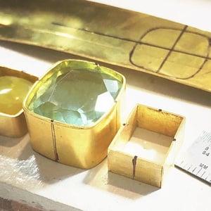 22k gold bezels for my Michelle Bracelet, Katy Beh Jewelry New Orleans