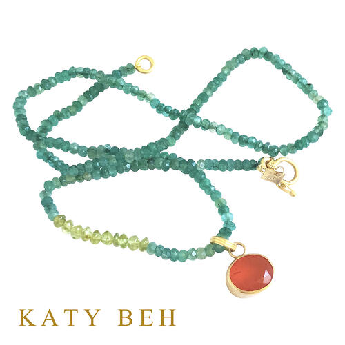 Libby_Carnelian_Pendant_Mercedes_Green_Onyx_Peridot_Necklace_22k_Gold_Katy_Beh_Jewelry_New_Orleans