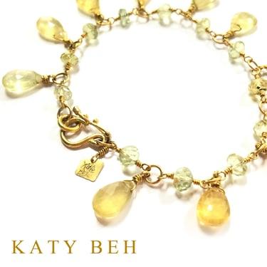 Mavis Yellow Aquamarine Golden Beryl 22k Bracelet Katy Beh Jewelry New Orleans 4